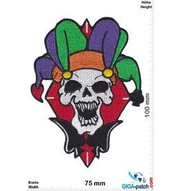 Totenkopf Joker skull - harlequin