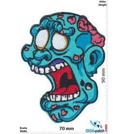 Zombie Zombie Head blue