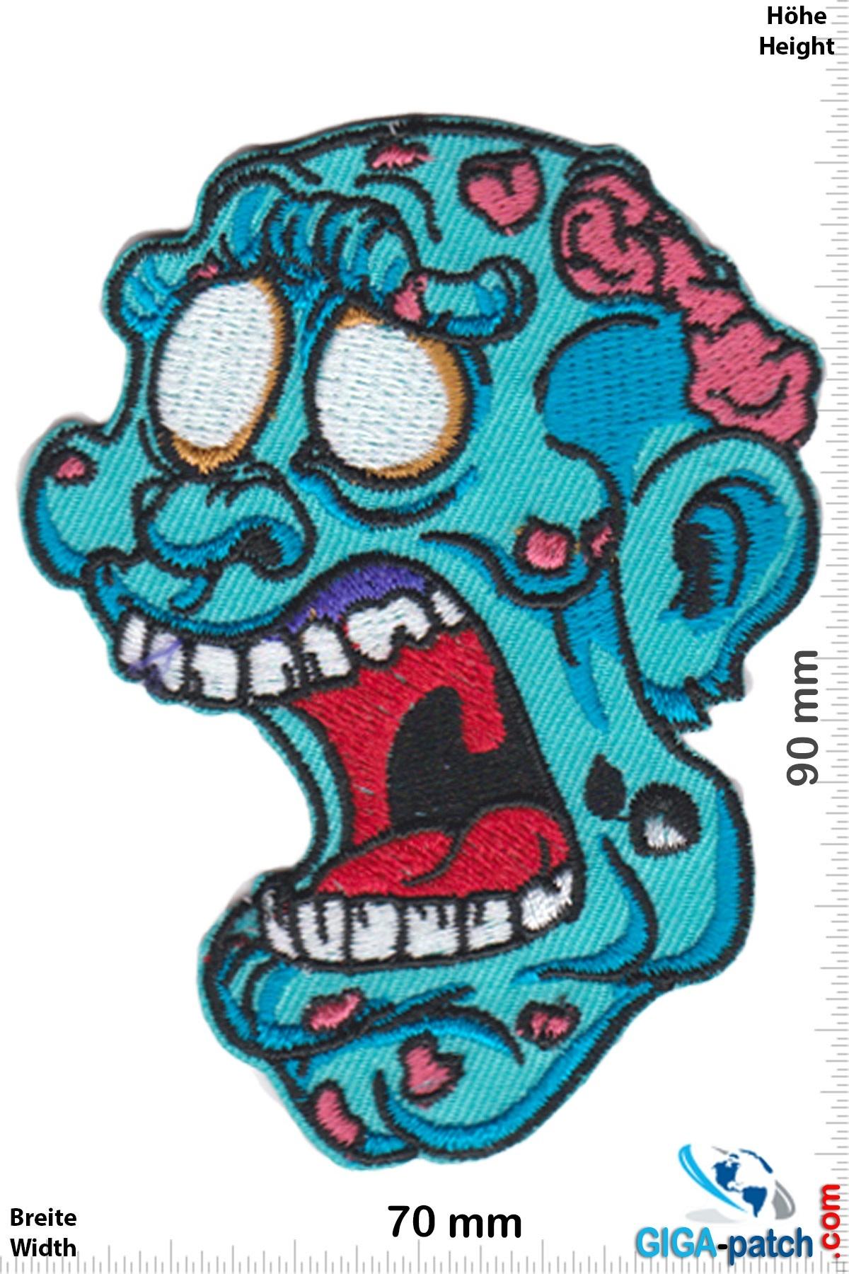 Zombie Zombie Kopf - blue