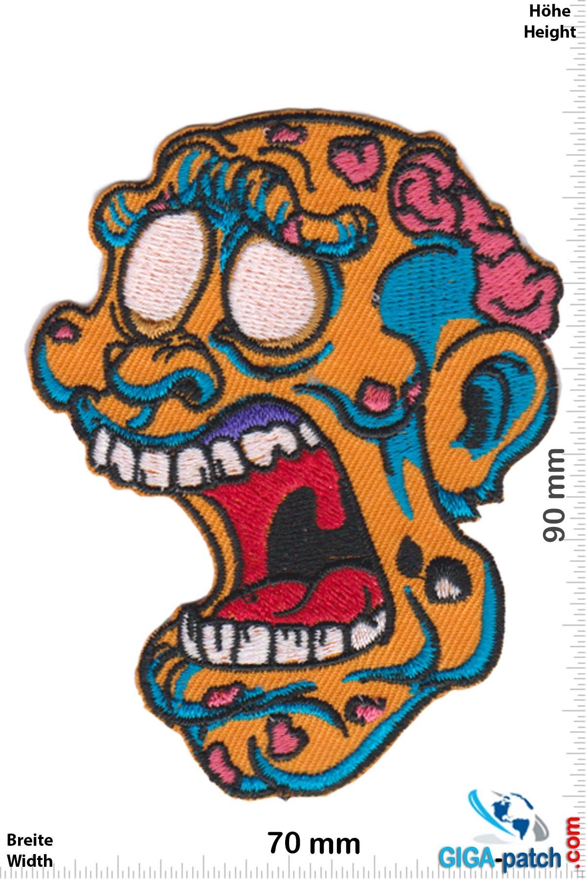 Zombie Zombie Kopf - orange