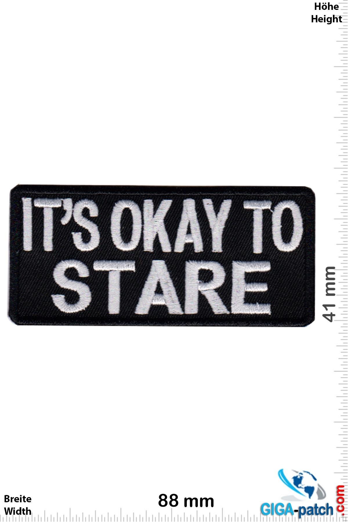 Sprüche, Claims It's OK to STARE