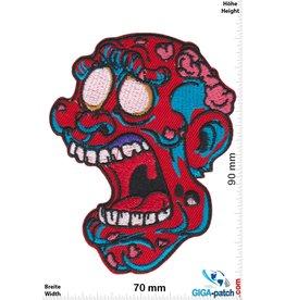 Zombie Zombie Kopf - red