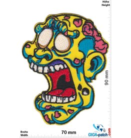 Zombie Zombie Kopf - yellow