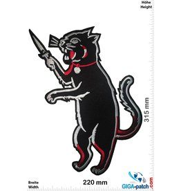 Stabby Cat - Cat with Blade  - 31 cm