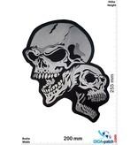 Biker 2 laughing Skull -25 cm