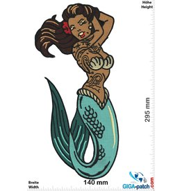 Oldschool Mermaid - Old School - Tattoo - 29 cm