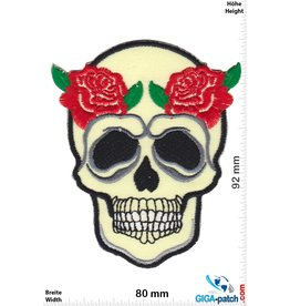 Totenkopf Skull with 2 Rose
