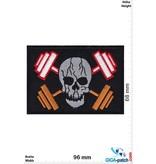 Totenkopf Fitness - dumbbells - skull bodybuilders - pirate