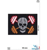 Totenkopf Fitness - Hanteln - Totenkopf- Bodybuilder - Pirat