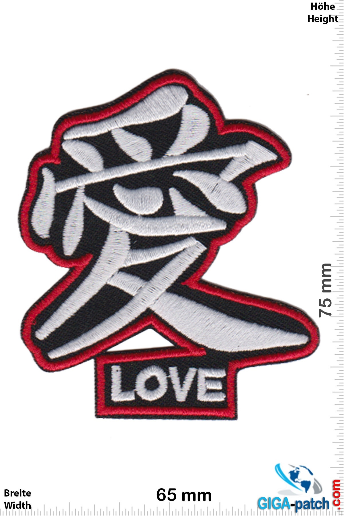 Love Love - Chinese - black silver