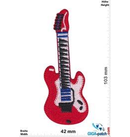 Gitarre rote E-Gitarre - red E-Guitar