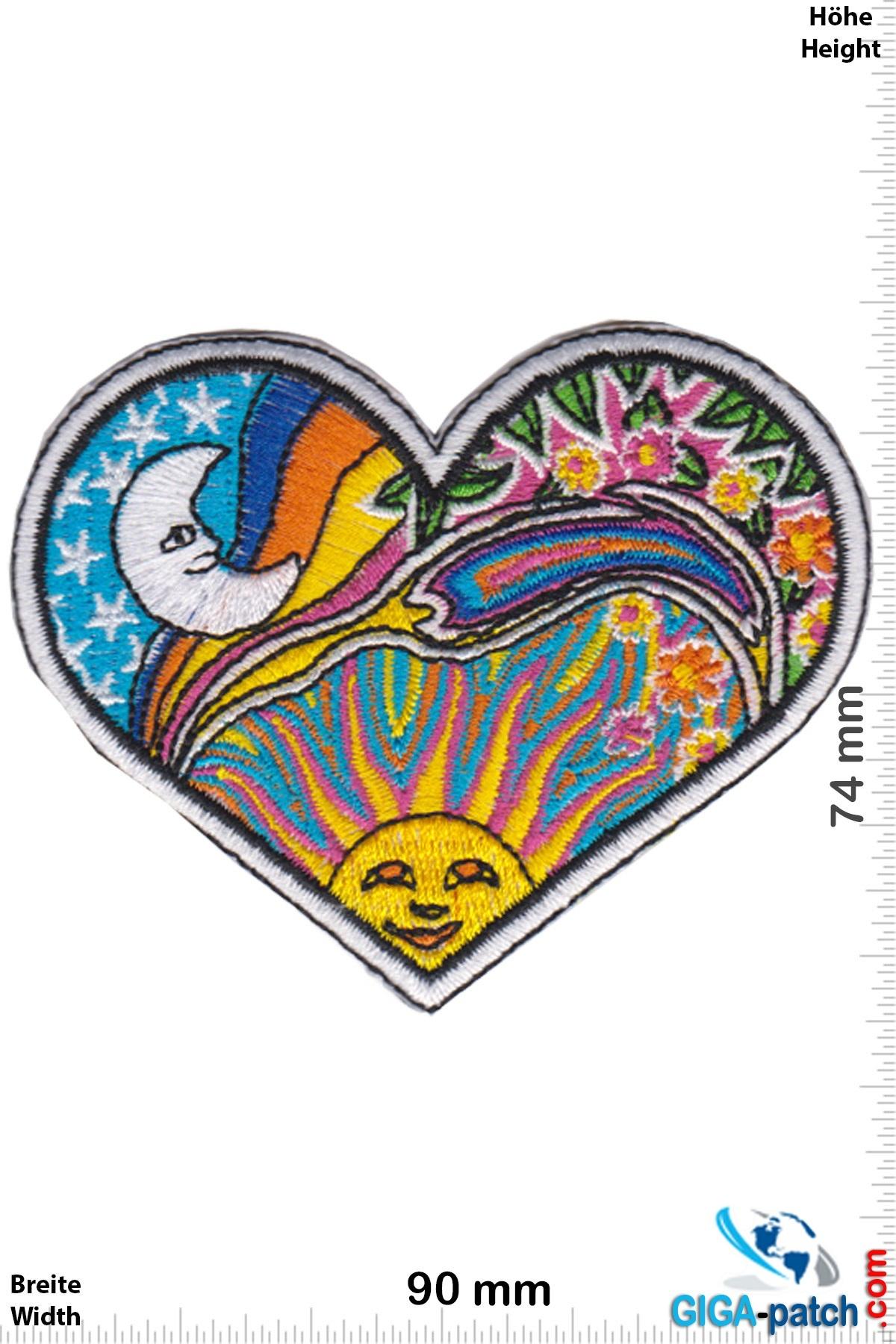 Love Love - heart - sun - moon