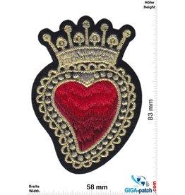 Love Herz König - Königin - gold