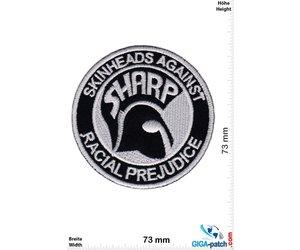 Punk Patch 9x9cm SHARP Skinheads Against Racial Prejudice Metal Patches Punk Patches Punk Jacket