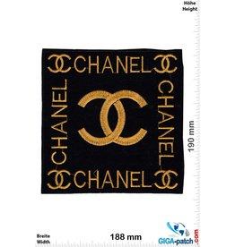 Chanel CC - black gold  - Softpatch - 19 cm