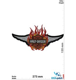 Harley Davidson Harley Davidson Motorcycles - Fire - 27 cm -BIG