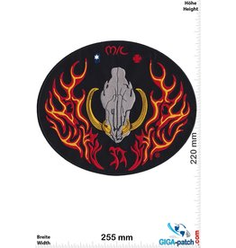 Biker MC - boar skull - biker -25 cm