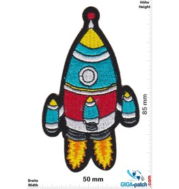 Rakete Rakete - Rocket - red blue silver