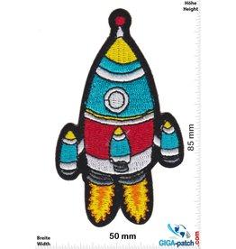 Rakete Rocket - red blue silver