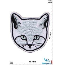 Cats head - black white