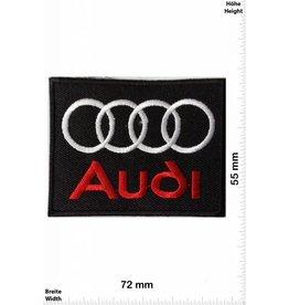 Audi Audi  rot/silber  -Quadrat