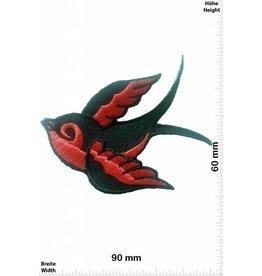 Vögel, Oiseau, Bird Vogel rechts - rot