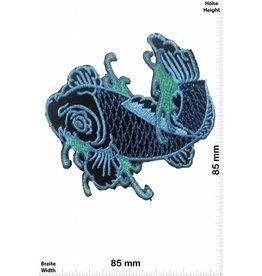 Fisch, Poisson, Fish Fish - blau- right - Fisch rechts