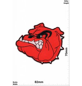 Bulldog Angry Bulldog - red