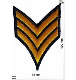 Sergant Sergeant Abzeichen 3 Streifen - gold