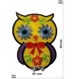 Eule Owl -Eule gelb  8,5 CM
