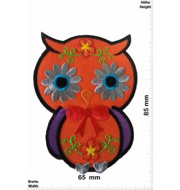 Eule Owl - orange  8,5 CM