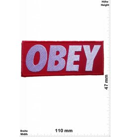 Obey Obey - red/silver