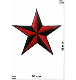 Stern Star - rot / schwarz