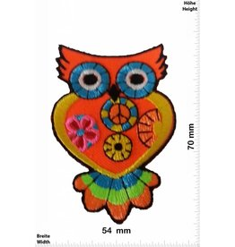 Eule Owl -  orange 7 CM