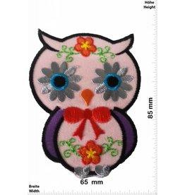 Eule Owl -  rosa 8,5 CM