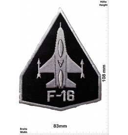 F 16 F16 black - black -Jet planes