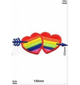 Herz 2 Hearts - 2 Herzen - Regenbogen