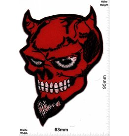 Teufel Roter Teufel - red Devil - Skull - Motorbike