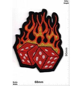 Würfel Würfel  in Flammen - Feuer Würfel