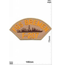 FGS Bremen FGS Bremen - F 207 - BIG  HQ 14 cm - Military - Warship -Frigate