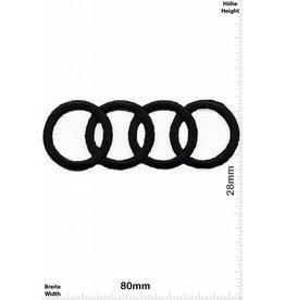 Audi Audi - Ringe schwarz -  sehr filigran und aufwendig in der Herstellung - HQ