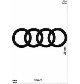 Audi Audi -Rings - black - very delicate and expensive to produce - HQ