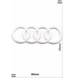 Audi Audi - Ringe weiss - sehr filigran und aufwendig in der Herstellung - HQ - Motorsport
