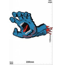 Santa Cruz Speedwheels - Santa Cruz Skateboards - light blue Monsterhand - Cruz Screaming Hand  - HQ