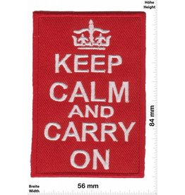 Keep Clam Keep Clam and Carry on - red