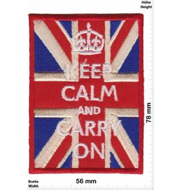 Keep Clam Keep Clam and Carry on - UK Flag