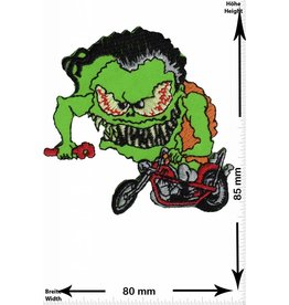 Monster grün Monster Biker
