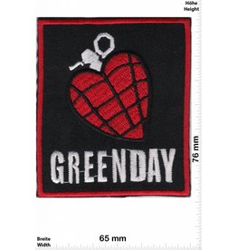 Green Day Greenday - Heartbomb - black- red