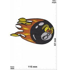 8 Ball Billard - schwarz - schwarze Acht -  8 - Flamme
