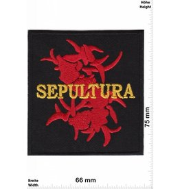 Sepultura Sepultura - rot - gelb - Metal-Band